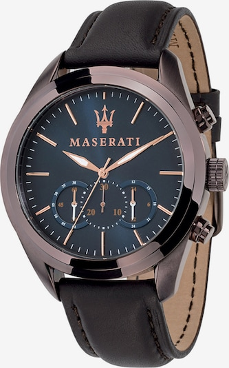 Maserati Uhr 'Traguardo' in dunkelblau / dunkelbraun, Produktansicht