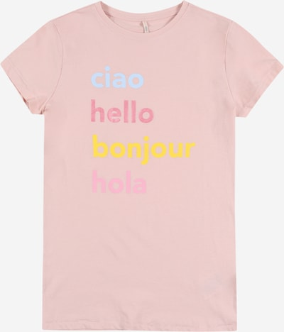 KIDS ONLY Shirt in hellblau / gelb / rosa, Produktansicht