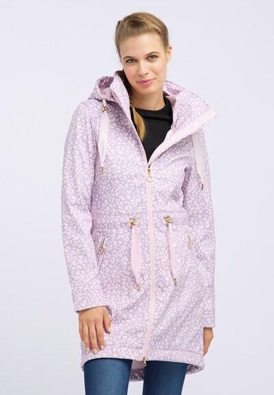 MYMO Between-seasons coat in Light purple / Light pink, View model