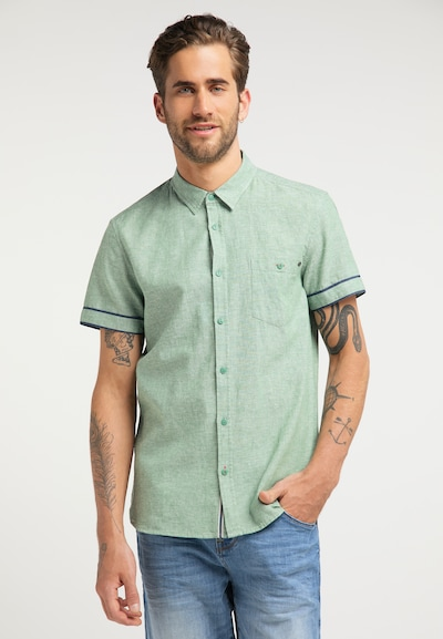 MUSTANG Shirt in hellgrün: Frontalansicht