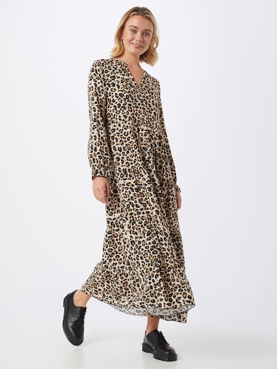 Hailys Kleid 'Estelle' in beige / braun / schwarz, Modelansicht