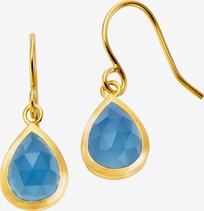 Jamelli Ohrringe in blau / gold, Produktansicht