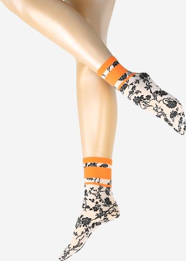 Wolford Sokken 'Gloria' in de kleur Zwart / Wit, Productweergave