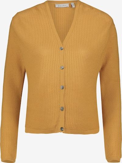 QUEEN MUM Gebreid vest 'Helsinki' in de kleur Honing, Productweergave