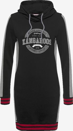 KangaROOS Sweatkleid in grau / rot / schwarz, Produktansicht