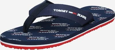 Tommy Jeans Zehentrenner in navy / rot / weiß, Produktansicht
