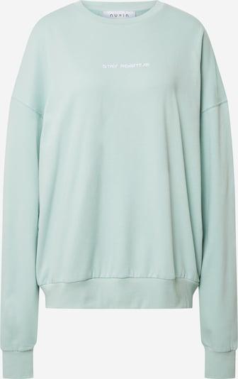 NU-IN Sweat-shirt 'Stay Positive' en vert pastel, Vue avec produit
