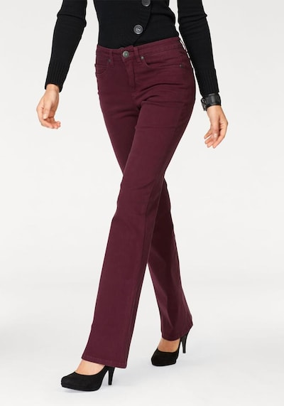 ARIZONA Bootcut-Jeans 'Comfort-Fit' in bordeaux, Modelansicht