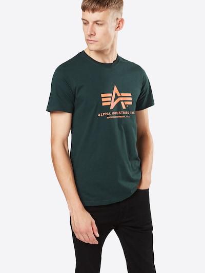 ALPHA INDUSTRIES Print-Shirt in dunkelgrün: Frontalansicht
