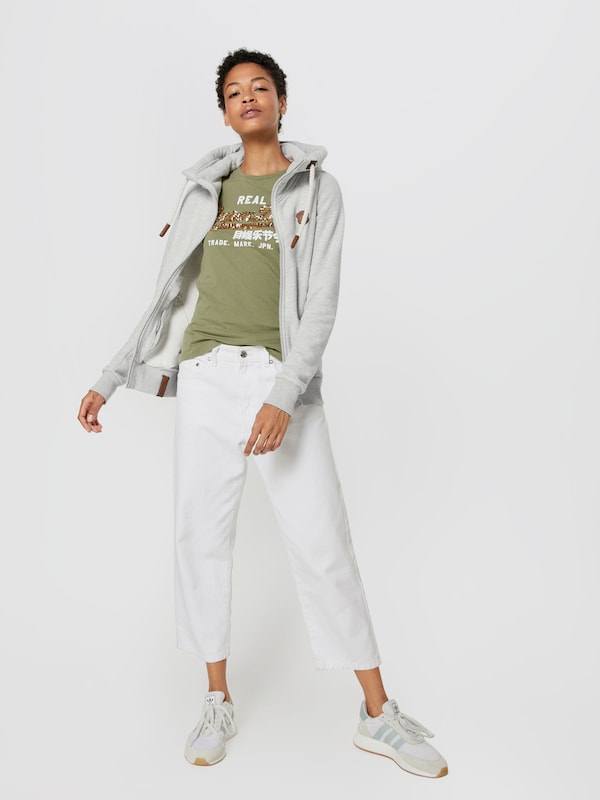 naketano Sweatjacke 'Blonder Engel' in offwhite | ABOUT YOU