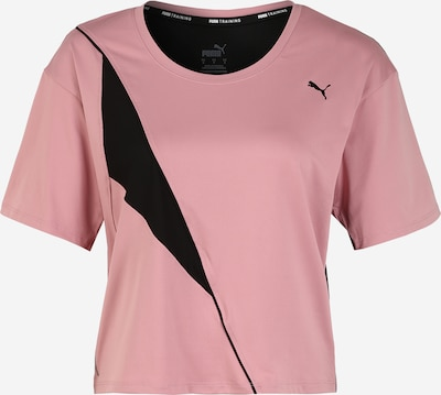 PUMA T-shirt fonctionnel en rose / noir: Vue de face