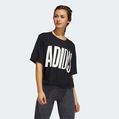 ADIDAS PERFORMANCE Shirt in schwarz: Frontalansicht