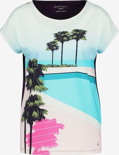 GERRY WEBER T-Shirt 1/2 Arm Shirt mit Frontprint organic cotton in mischfarben, Produktansicht