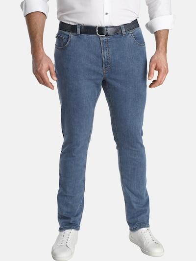 Charles Colby Jeans ' Baron Otis ' in blue denim, Modelansicht