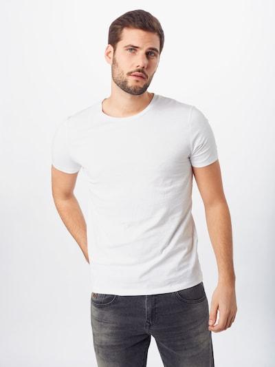 TOM TAILOR DENIM Majica u siva / crna / bijela: Prednji pogled