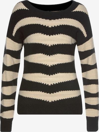 LASCANA Pullover in sand / schwarz, Produktansicht