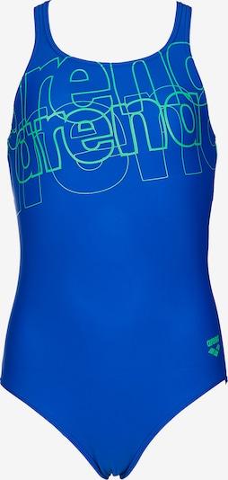 ARENA Badeanzug 'Spotlight' in blau / hellgrün, Produktansicht