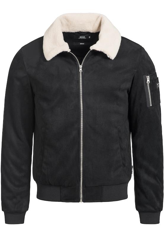 D'hiver Indicode Blanc En Eqdwr Jeans Veste 'ladbroke' Noir OiPXZuk