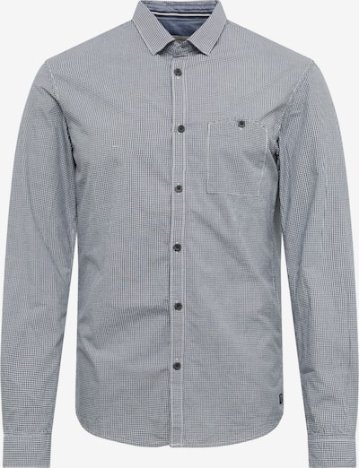 TOM TAILOR DENIM Hemd 'mini vichy shirt' in navy / weiß, Produktansicht