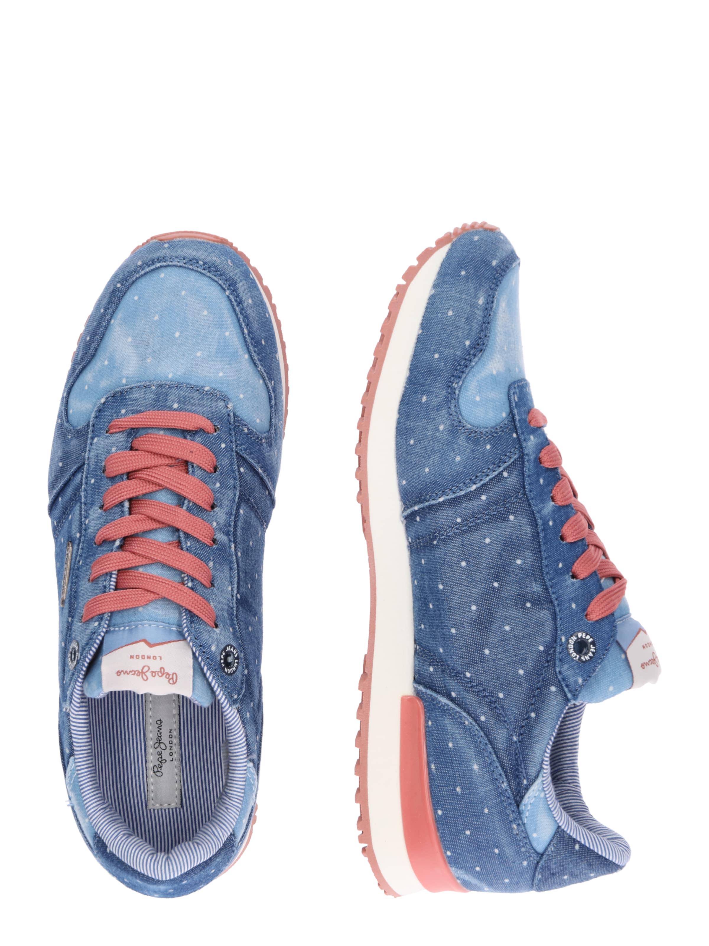 Basses Jeans Pepe 'gable Baskets BleuRosé Dot' En Patch dBhCtosxQr