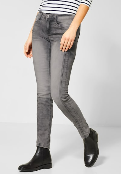 STREET ONE Jeans 'York' in grau / schwarz, Modelansicht