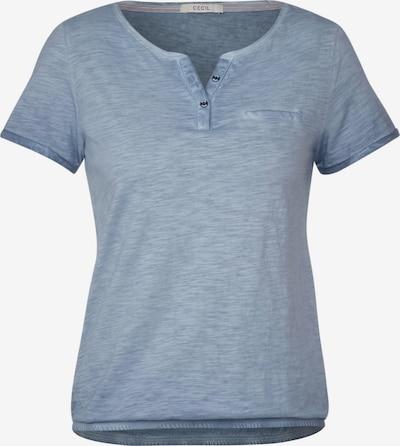 CECIL T-Shirt mit Flammgarn in blau, Produktansicht