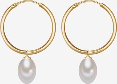 Valero Pearls Creolen in goldgelb, Produktansicht