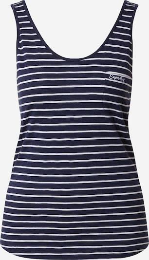 Superdry Top 'OL ESSENTIAL' in navy / weiß, Produktansicht