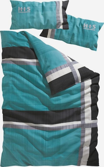 H.I.S Duvet Cover in Turquoise / Grey / Black / White, Item view