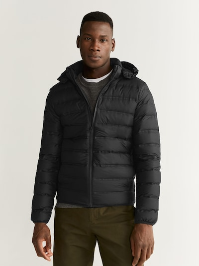 MANGO MAN Prehodna jakna 'COLI                    ' | črna barva: Frontalni pogled