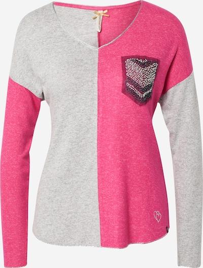 szürke / rózsaszín / fekete Key Largo Póló 'WLS CANDLE', Termék nézet