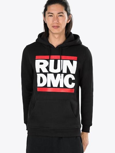 Mister Tee Sweatshirt 'Run DMC' in rot / schwarz / weiß: Frontalansicht