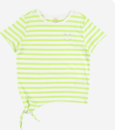 KIDS ONLY Shirt 'KONBRAVE LIFE S/S KNOT TOP JRS' in de kleur Limoen, Productweergave