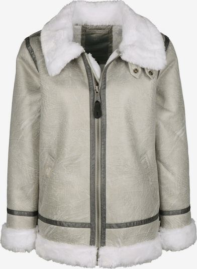 ALPHA INDUSTRIES Winterjas ' B3FL W ' in de kleur Beige / Wit, Productweergave