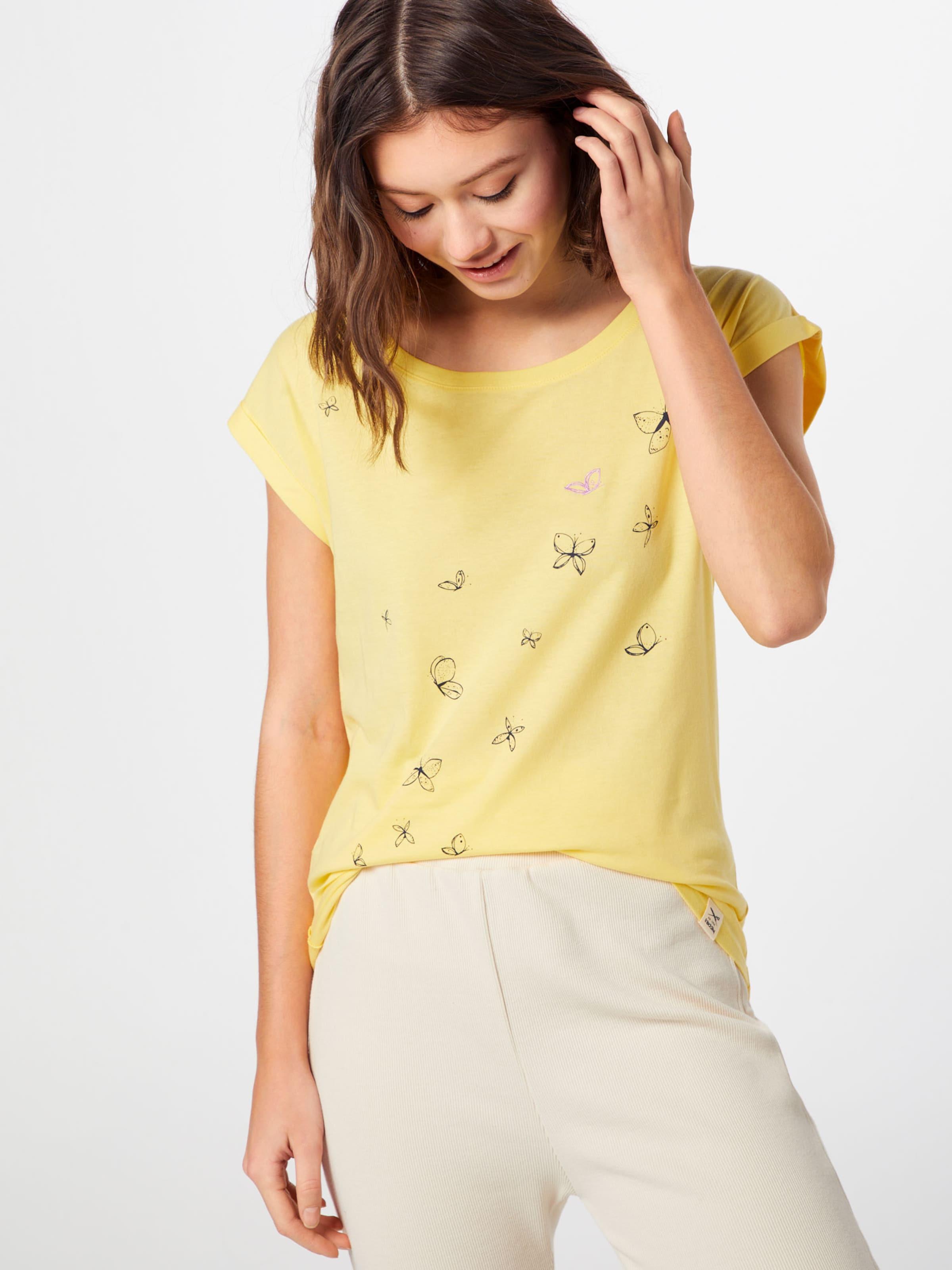 In Iriedaily Gelb 'butterflies Tee' Shirt 8NXwPkn0O