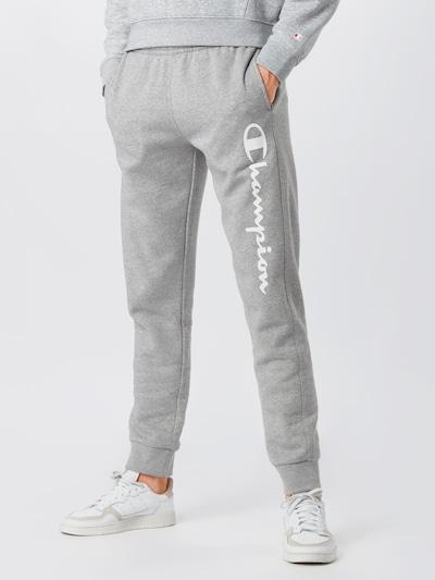 Champion Authentic Athletic Apparel Spodnie w kolorze nakrapiany szarym: Widok z przodu