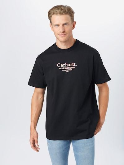 Tricou Carhartt WIP pe roșu / negru / alb, Vizualizare model