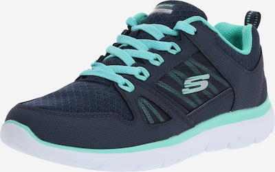 SKECHERS Platform trainers 'New World' in Navy / Turquoise, Item view