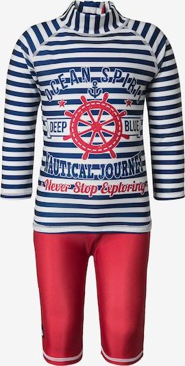 SWIMPY Schwimmanzug in dunkelblau / rot / weiß, Produktansicht