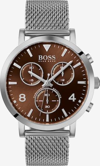 BOSS Uhr in braun / silber, Produktansicht