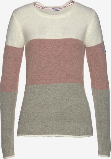 KangaROOS Rundhalspullover in graumeliert / pinkmeliert / offwhite, Produktansicht