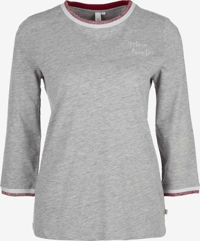 Q/S designed by Shirt in graumeliert, Produktansicht