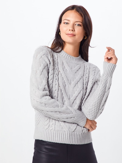 IVYREVEL Pullover 'CABLE KNIT' in hellgrau, Modelansicht