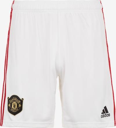 ADIDAS PERFORMANCE Short 'Home Manchester United' in rot / schwarz / weiß: Frontalansicht
