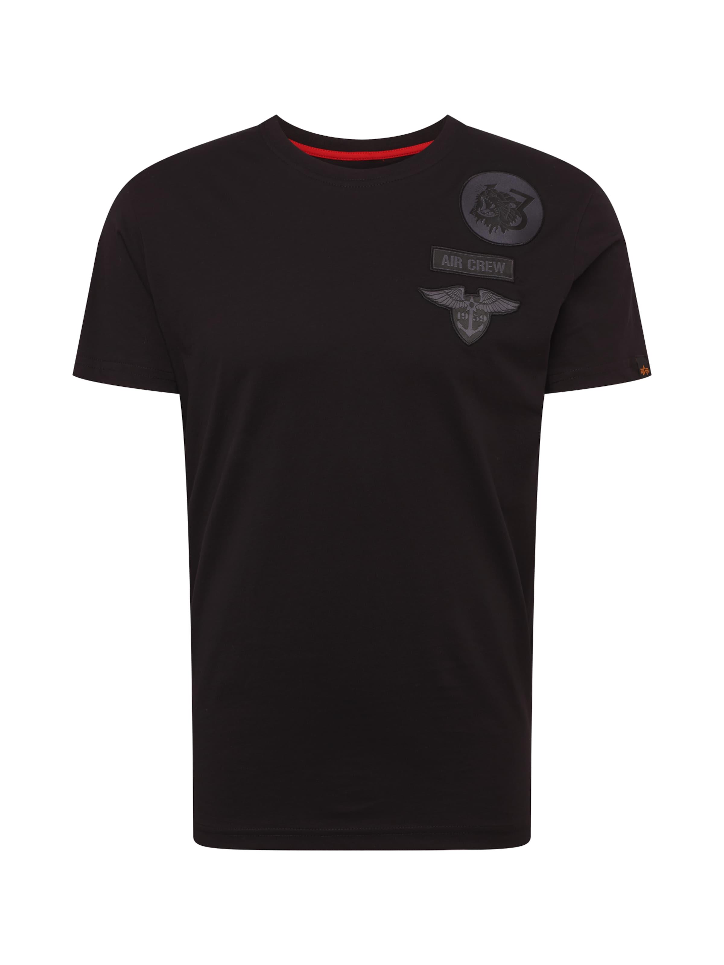Crew T' In 'air Industries Schwarz Shirt Alpha iOPTXukZ