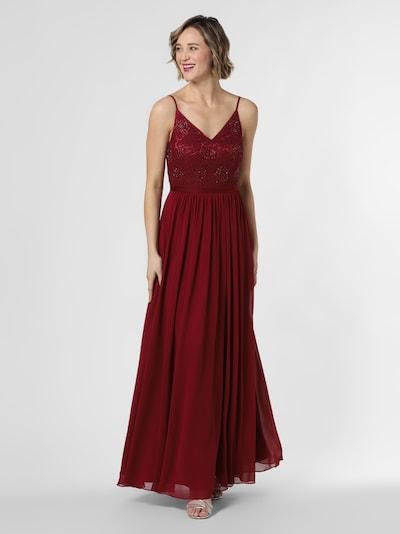 Marie Lund Abendkleid in blutrot, Modelansicht