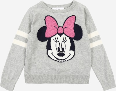 GAP Sweatshirt in graumeliert / pink / schwarz / weiß, Produktansicht