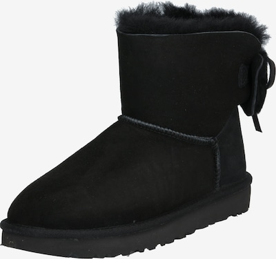 UGG Stiefel 'CLASSIC DOUBLE BOW MINI' in schwarz: Frontalansicht