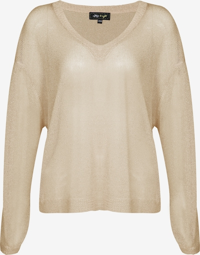 myMo at night Pullover in beige / gold, Produktansicht