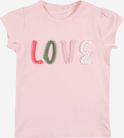 NAME IT Shirt 'NMFHALOVE SS TOP' in rosa, Produktansicht